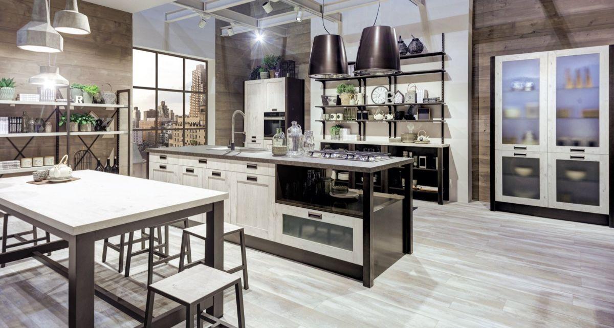 кухня в итальянском стиле лофтовый дизайн