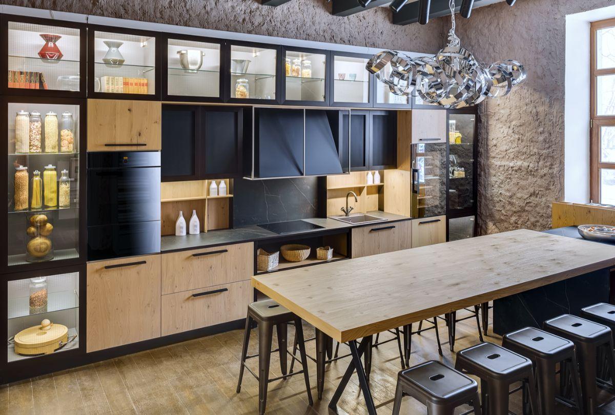 кухня в итальянском стиле необычный гарнитур