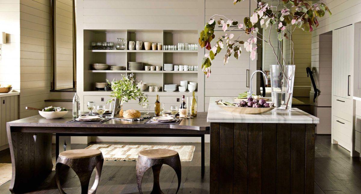кухня в итальянском стиле оригинальные табуретки
