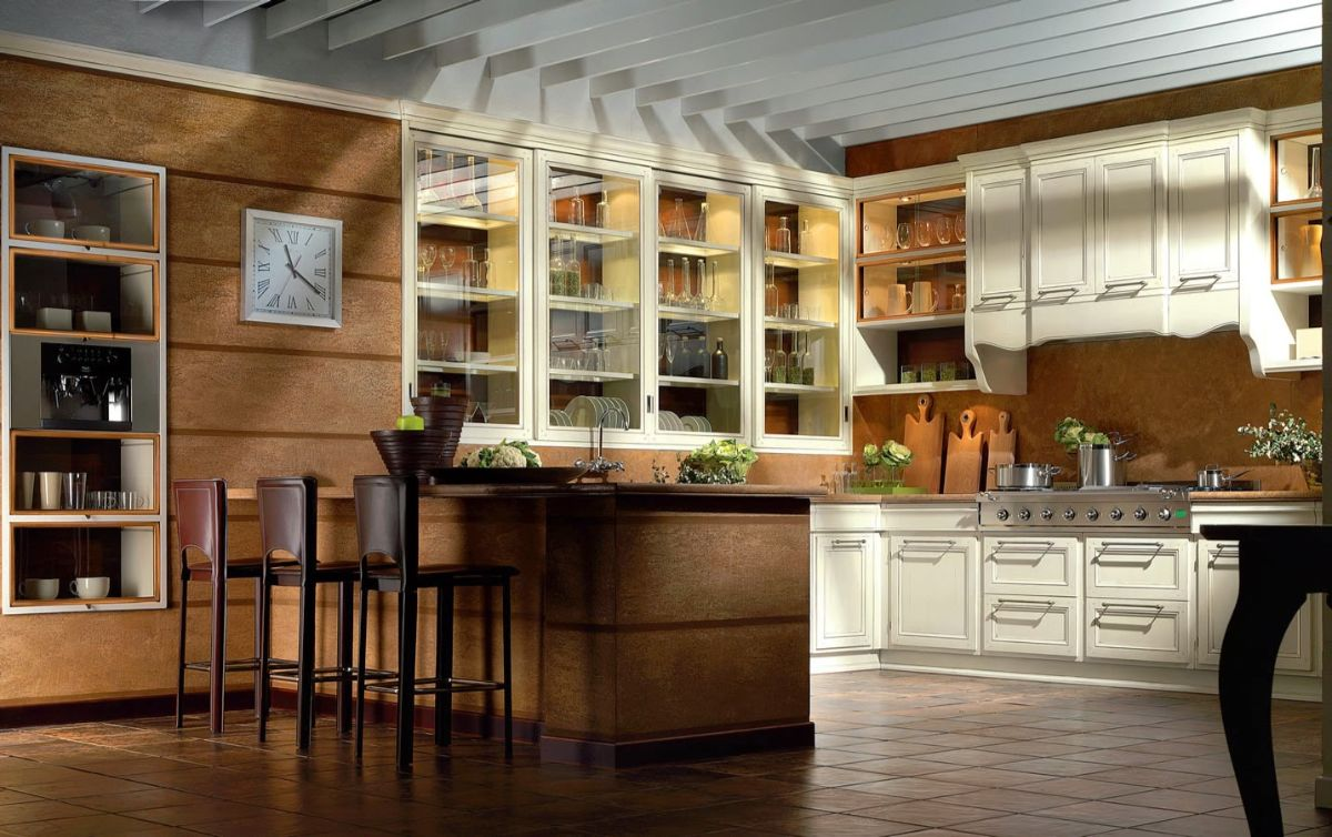 кухня в итальянском стиле песочная палитра