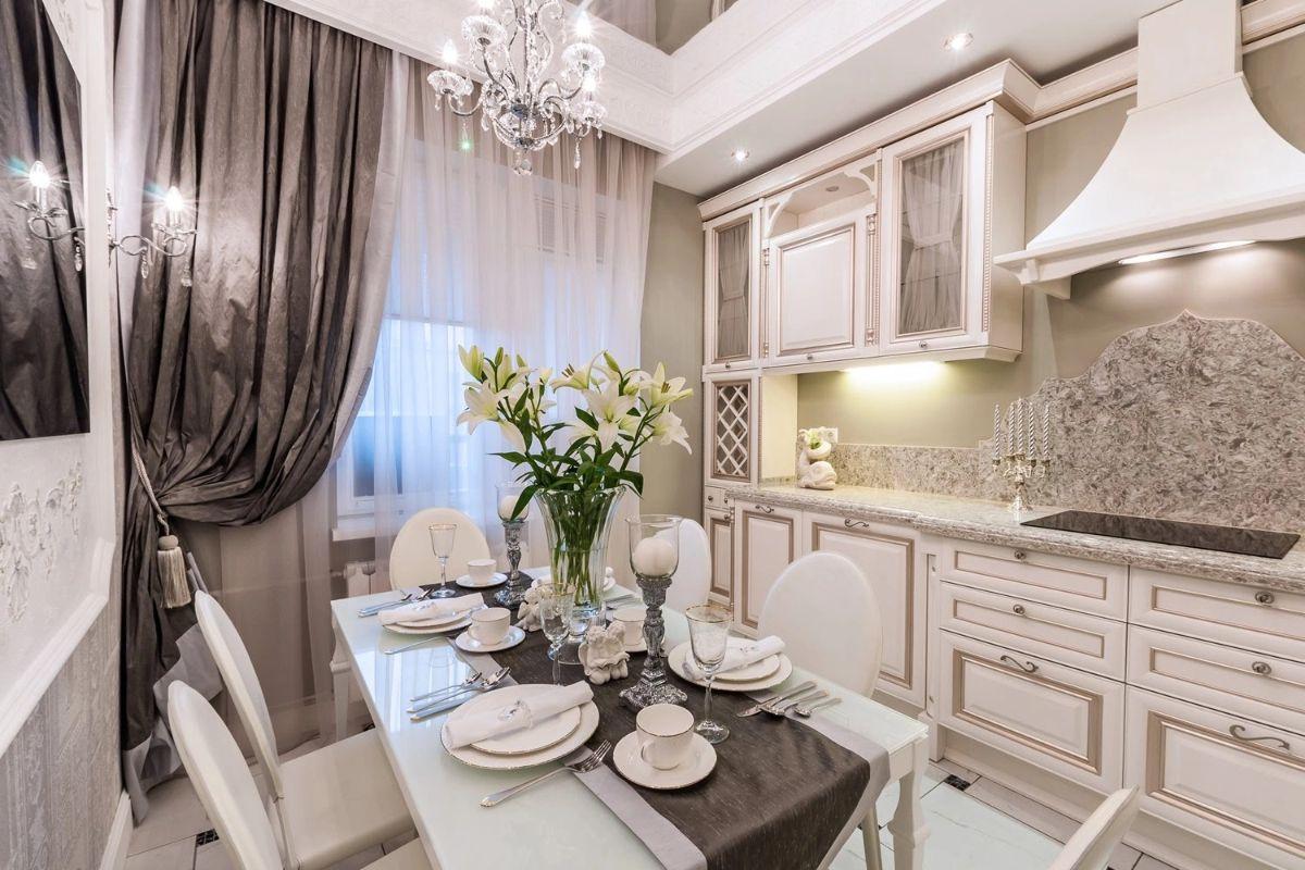 кухня в итальянском стиле портьеры