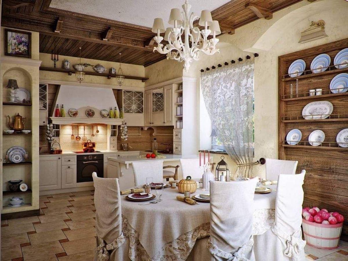 кухня в итальянском стиле прованс