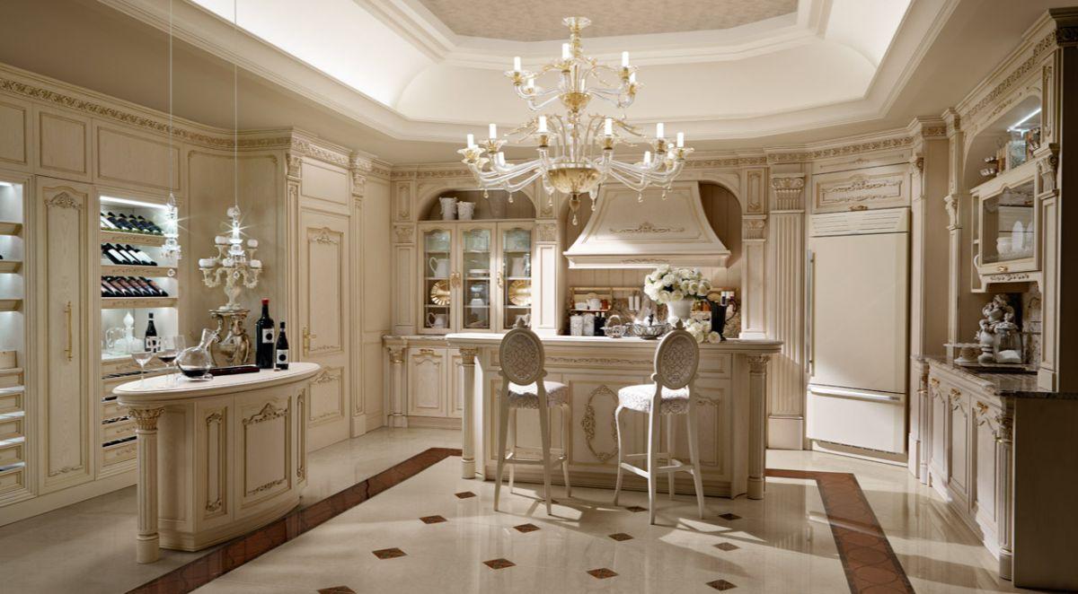 кухня в итальянском стиле роскошный интерьер