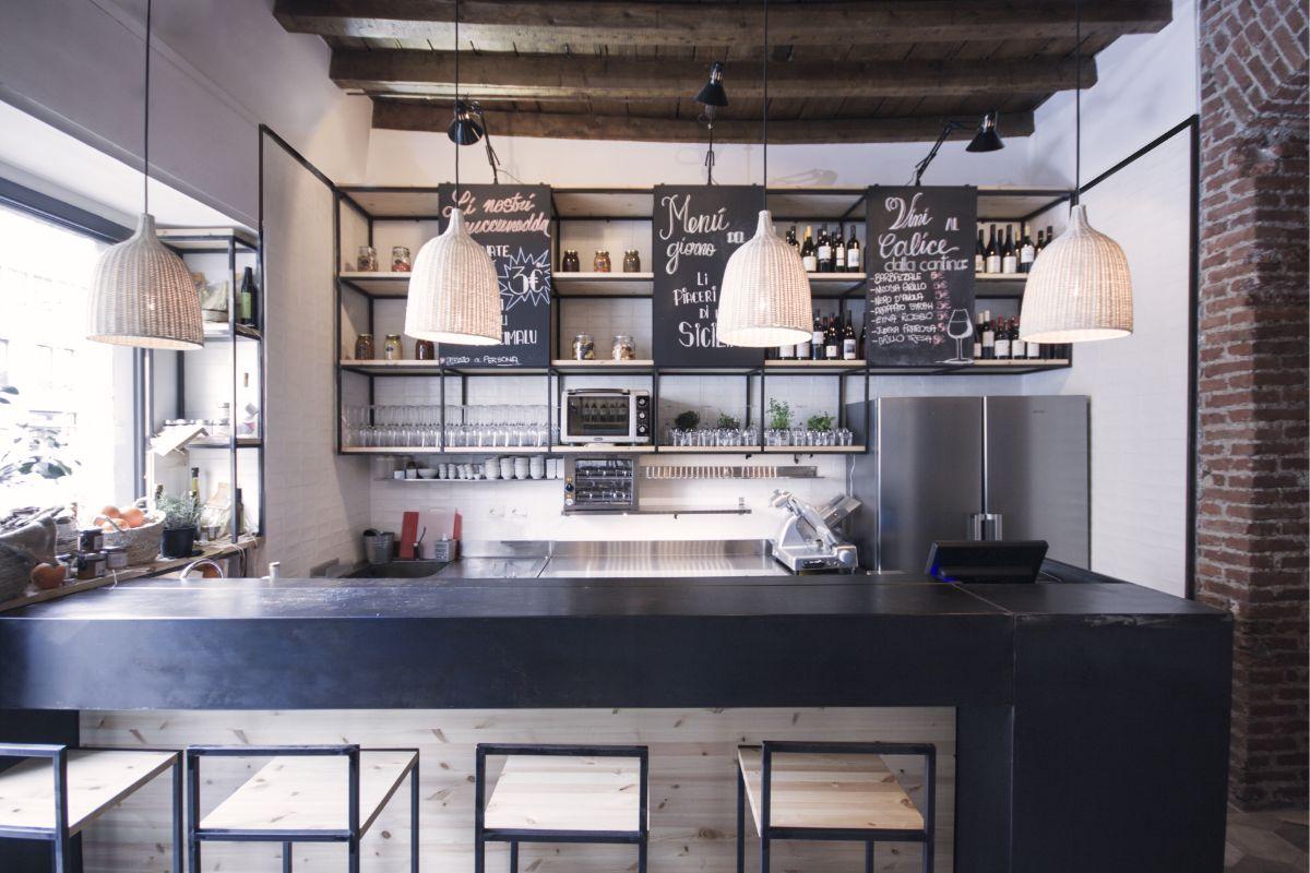 кухня в итальянском стиле с элементами лофта