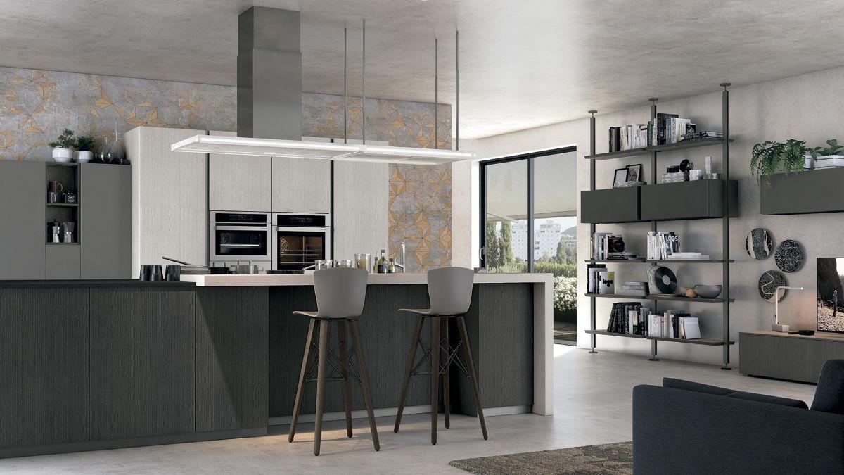 кухня в итальянском стиле серый интерьер