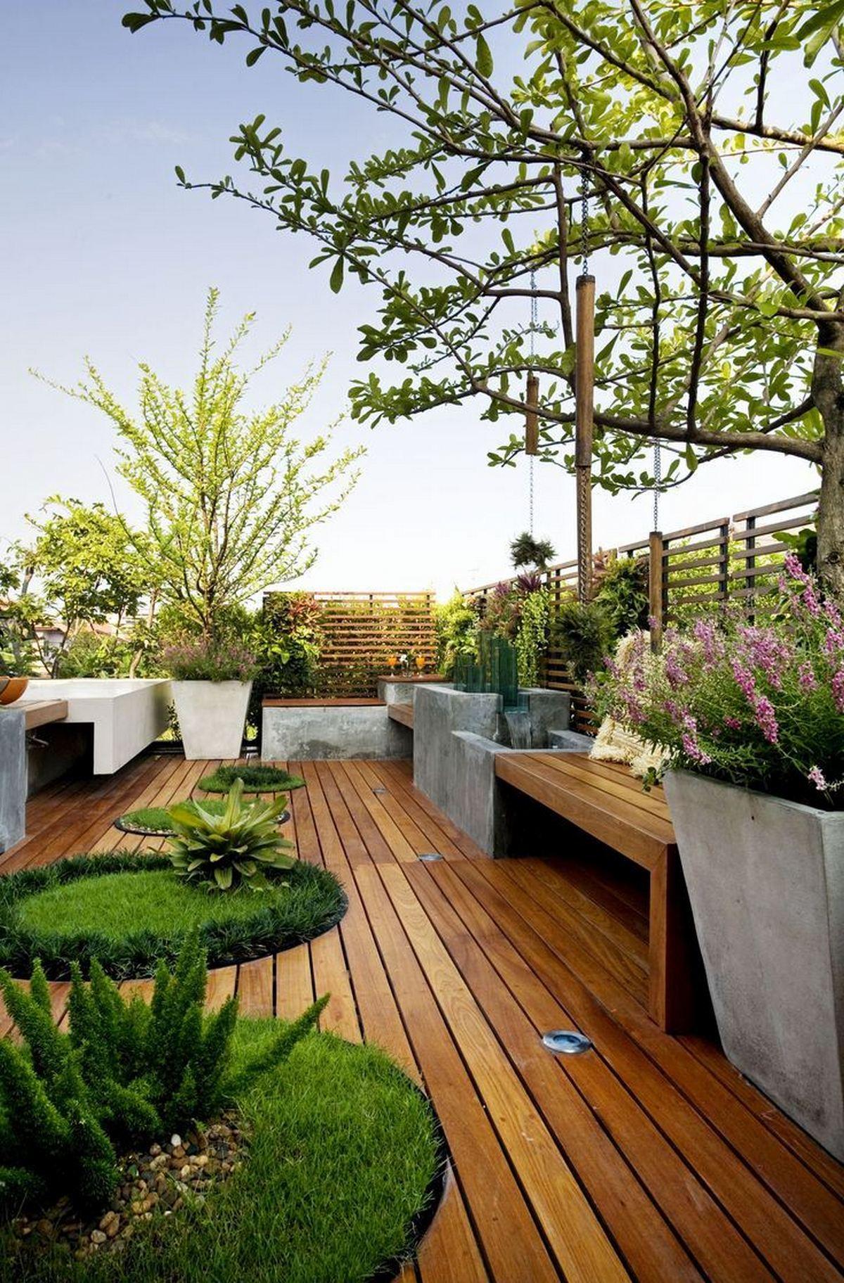 ландшафтный дизайн садового участка 6 соток бамбуковый пол