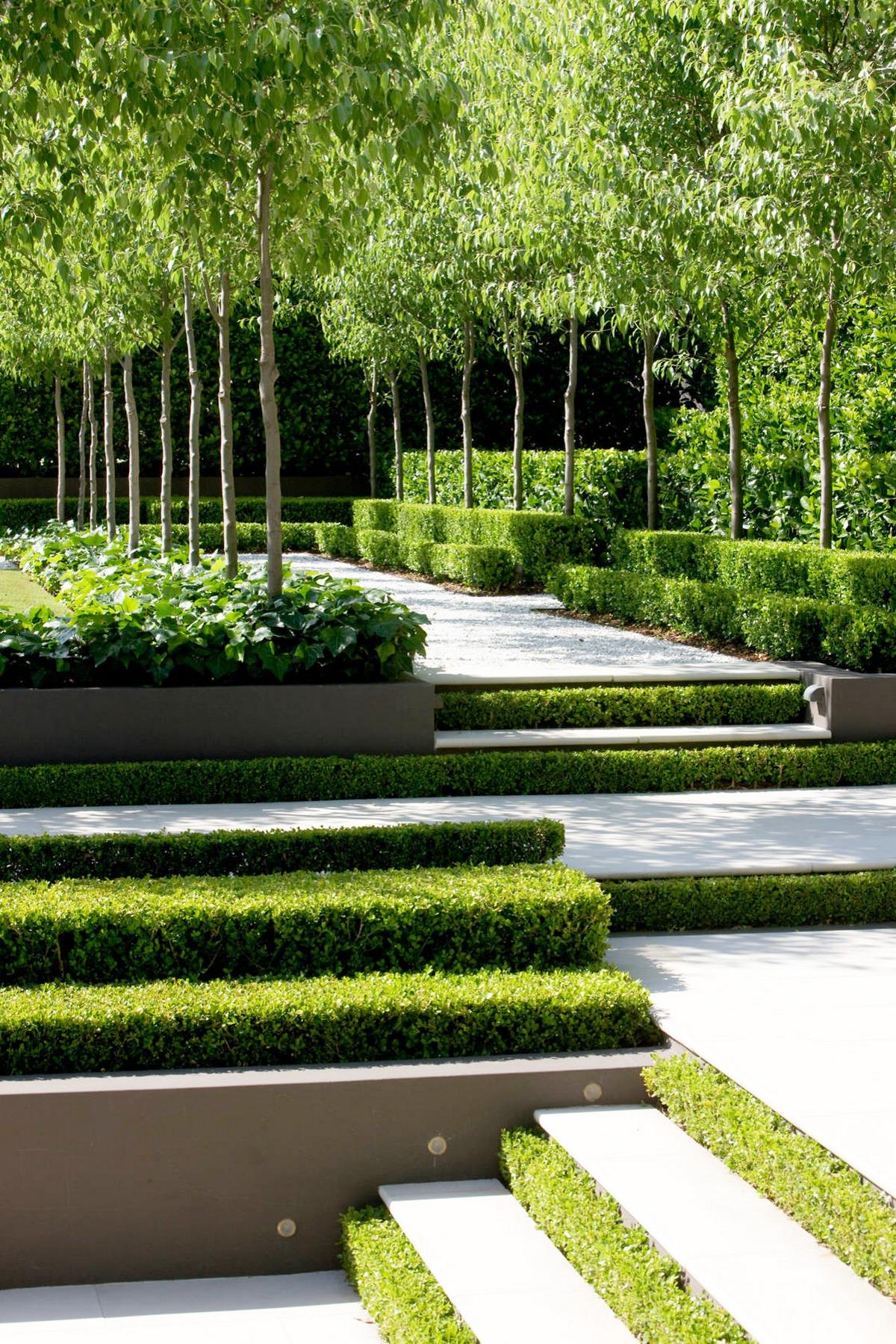 ландшафтный дизайн садового участка 6 соток ступени регулярный стиль
