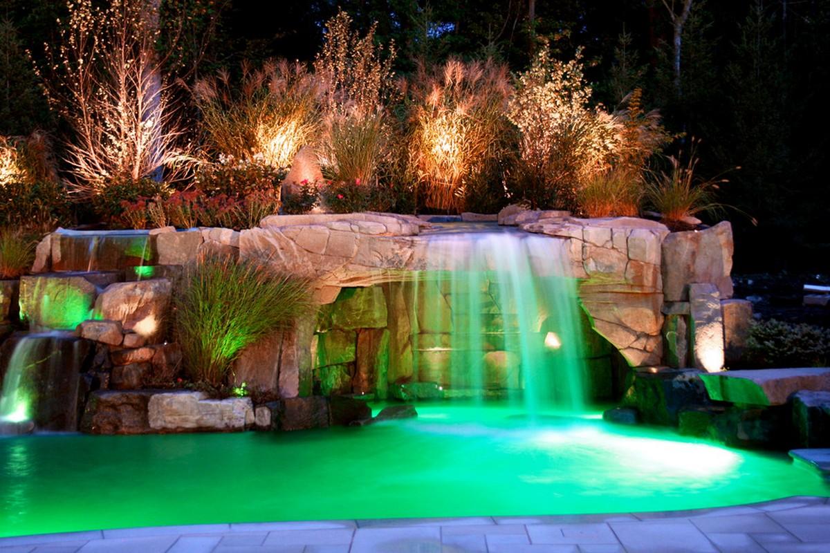 ландшафтный дизайн садового участка бассейн онлайн