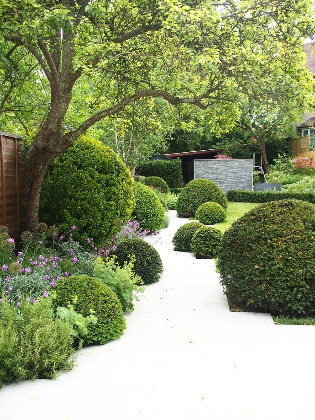 ландшафтный дизайн садового участка белый камень фотогалерея