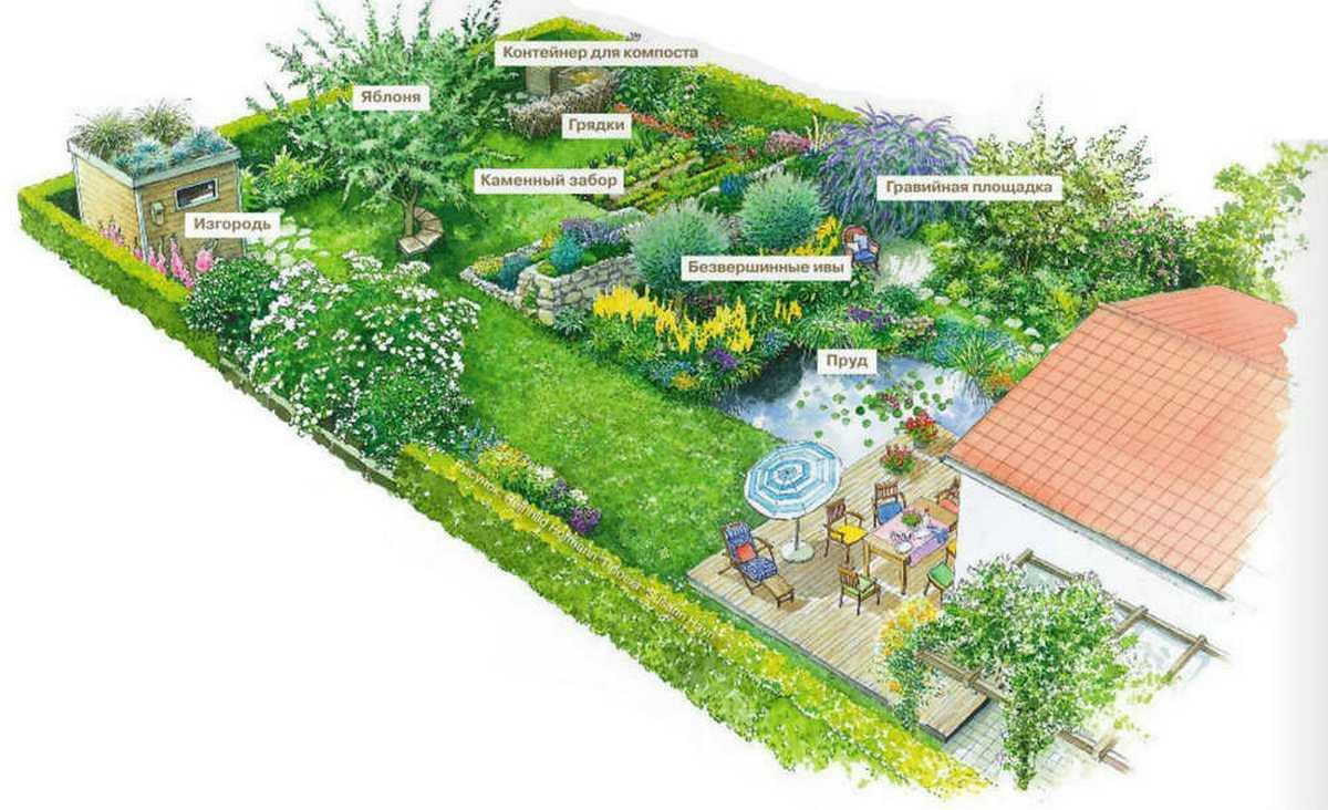 ландшафтный дизайн садового участка фотогалерея
