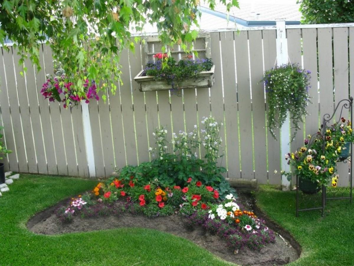 ландшафтный дизайн садового участка маленькая грядка