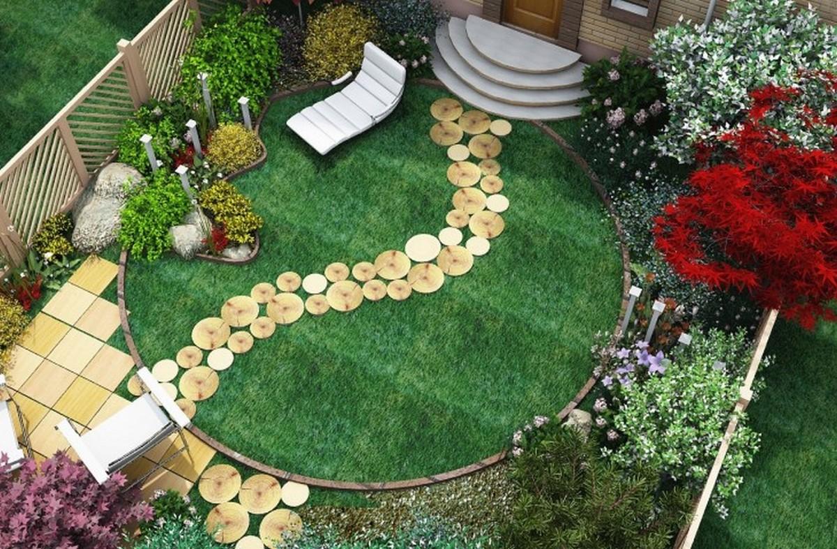 ландшафтный дизайн садового участка невероятный дизайн