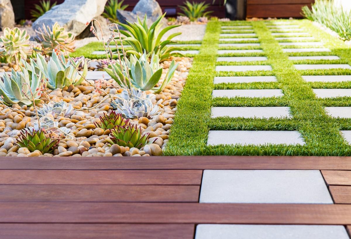 ландшафтный дизайн садового участка оформление плиткой онлайн