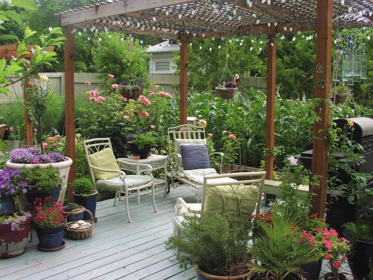 ландшафтный дизайн садового участка оформление зоны отдыха