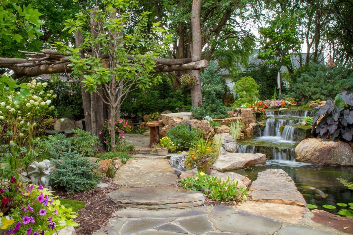 ландшафтный дизайн садового участка онлайн фото