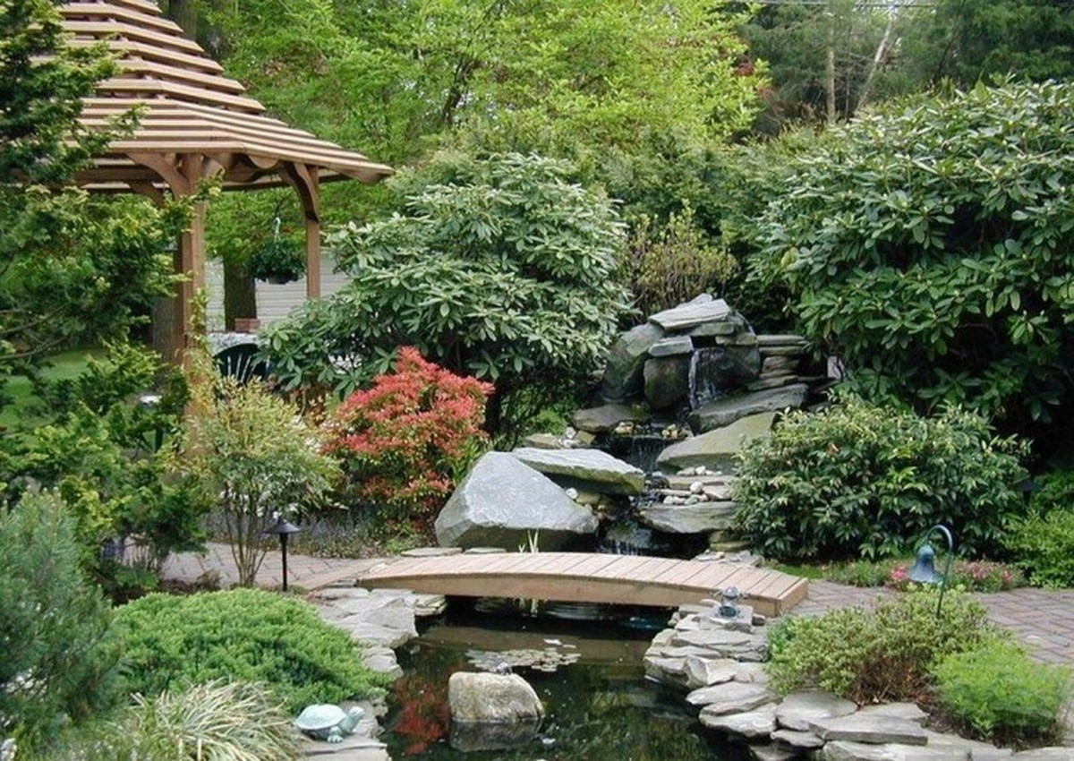 ландшафтный дизайн садового участка сад камней