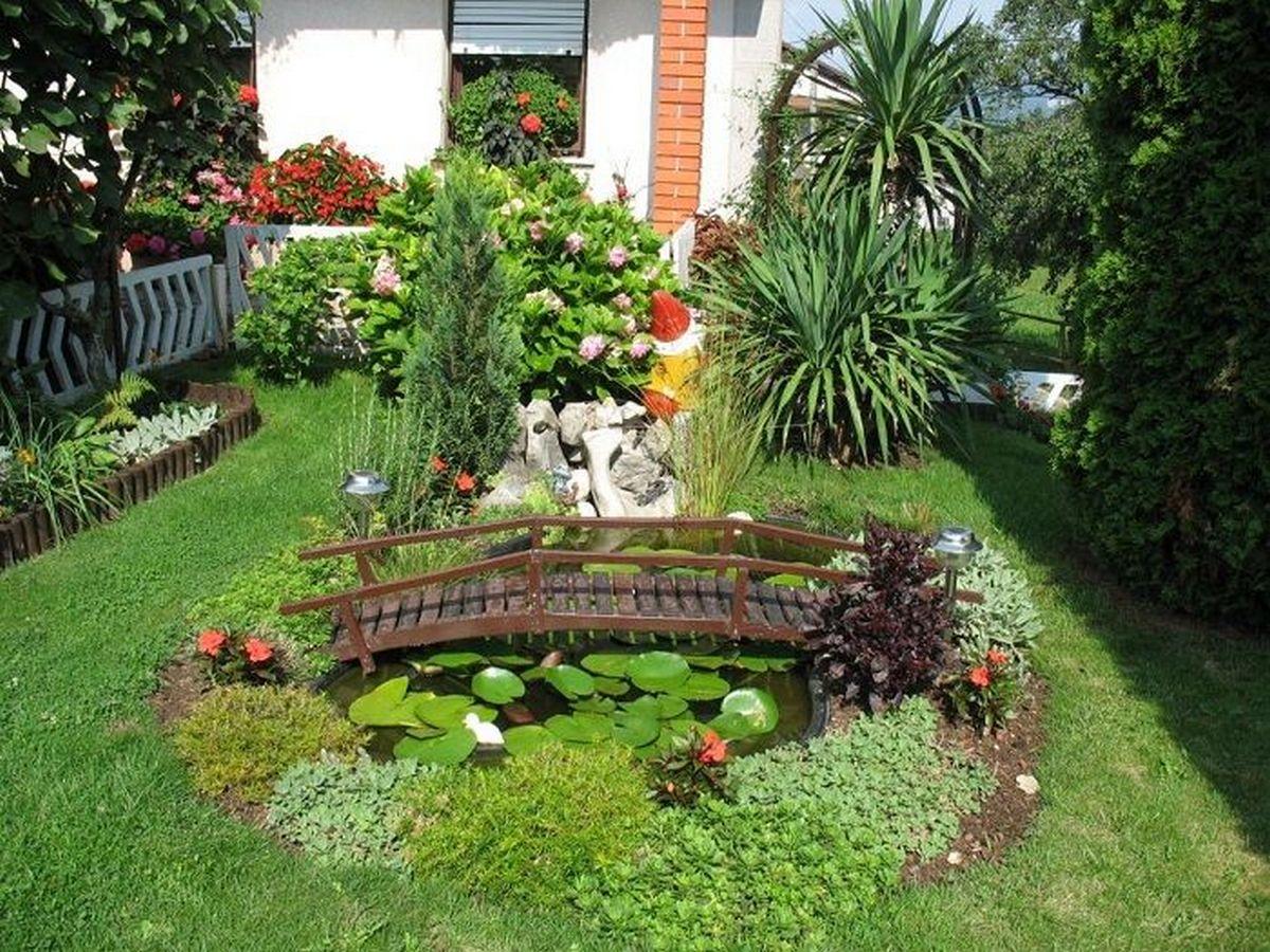 ландшафтный дизайн садового участка своими руками мостик