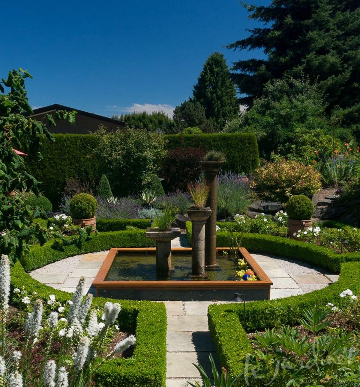 ландшафтный дизайн садового участка своими руками регулярный стиль
