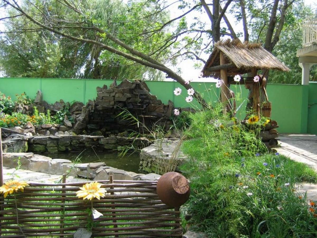 ландшафтный дизайн садового участка украинский стиль
