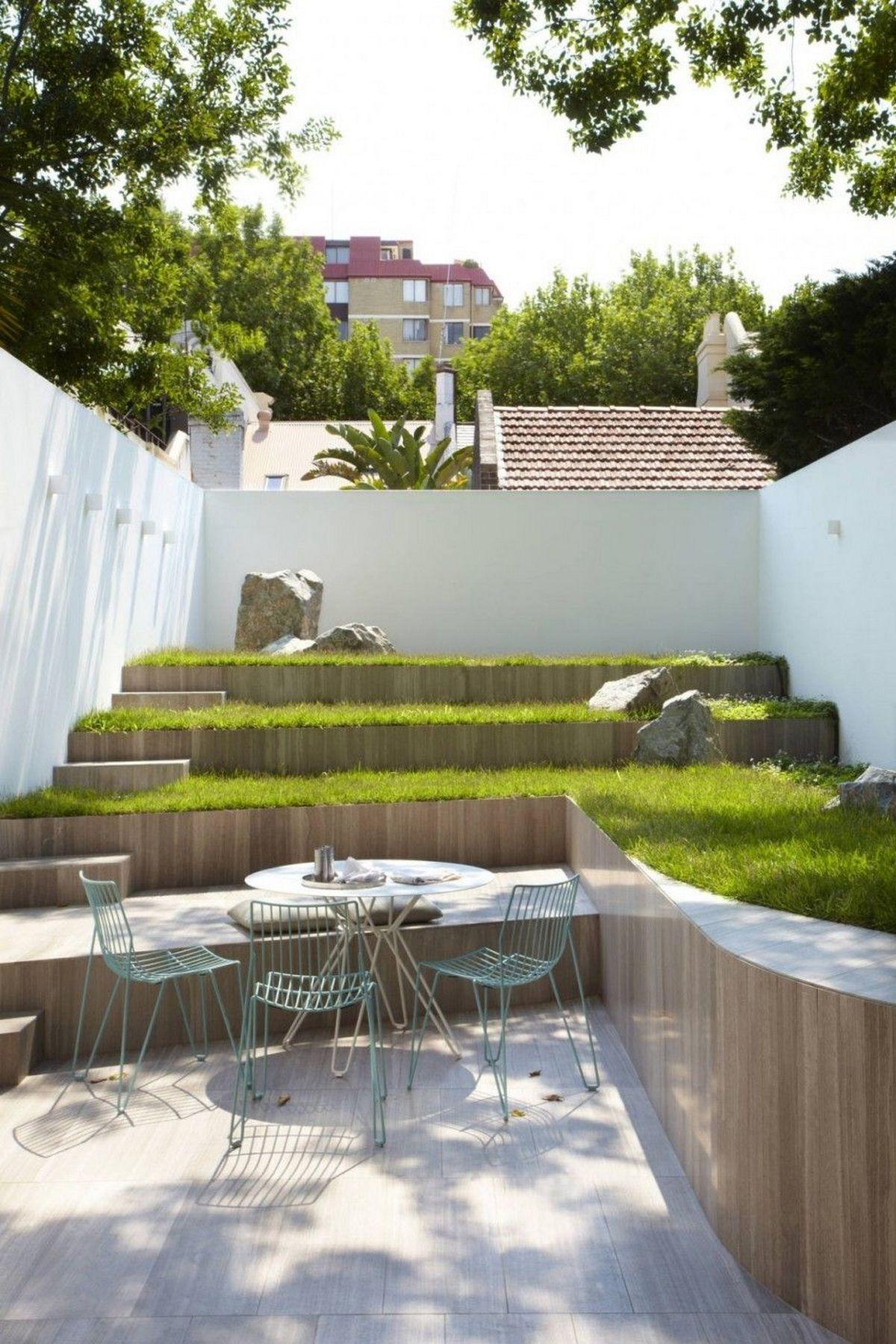 ландшафтный дизайн садового участка в таунхаусе
