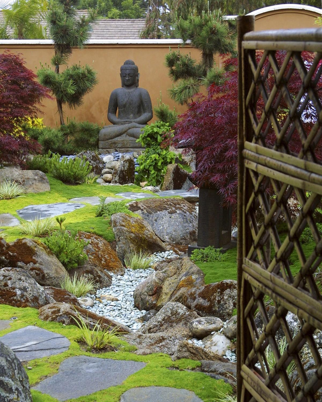 ландшафтный дизайн садового участка в восточном стиле