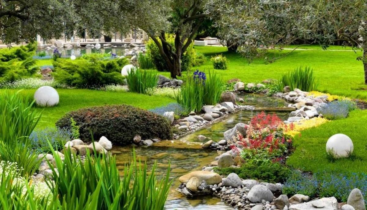 ландшафтный дизайн садового участка восточный стиль фото