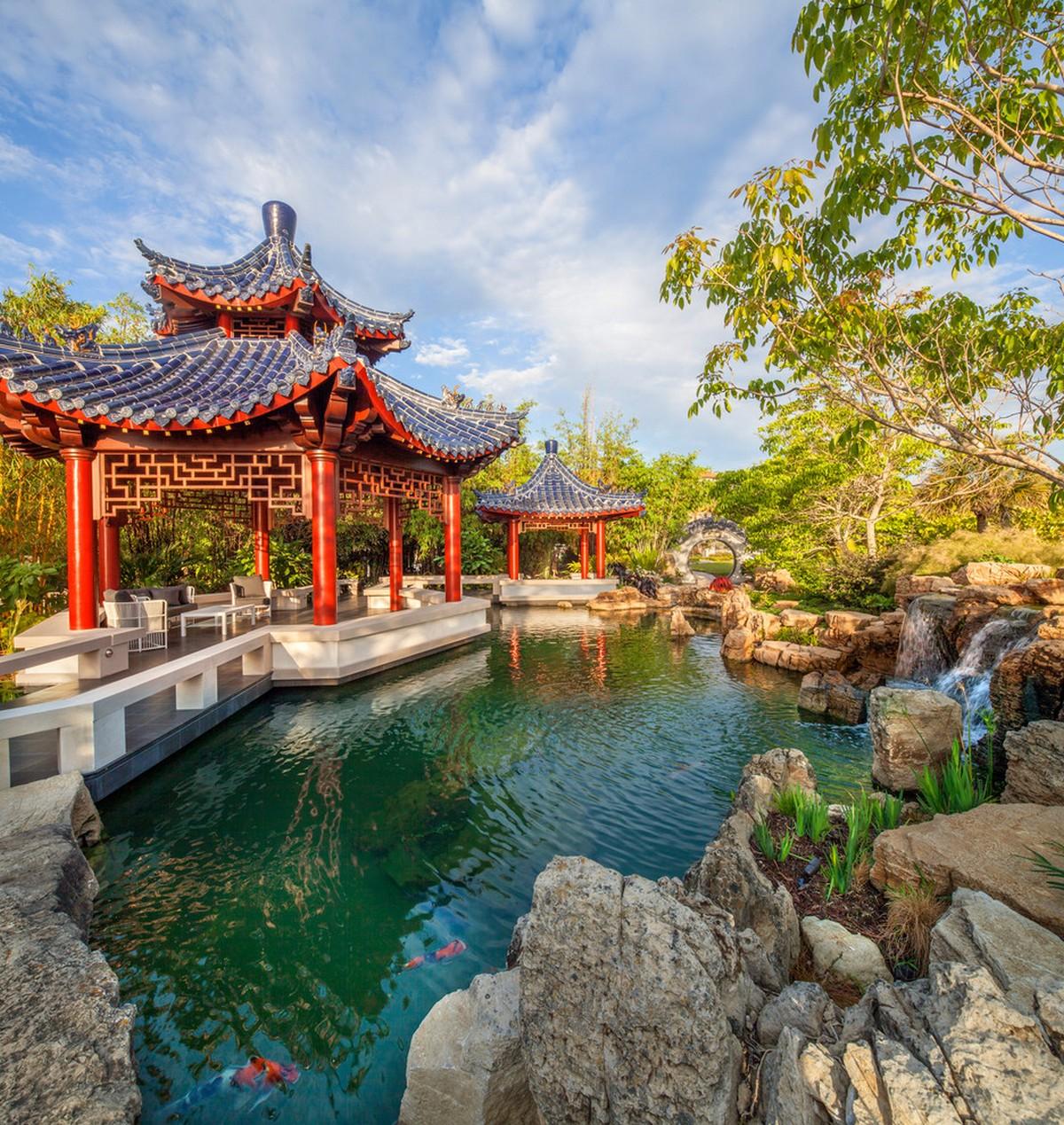ландшафтный дизайн садового участка японский стиль