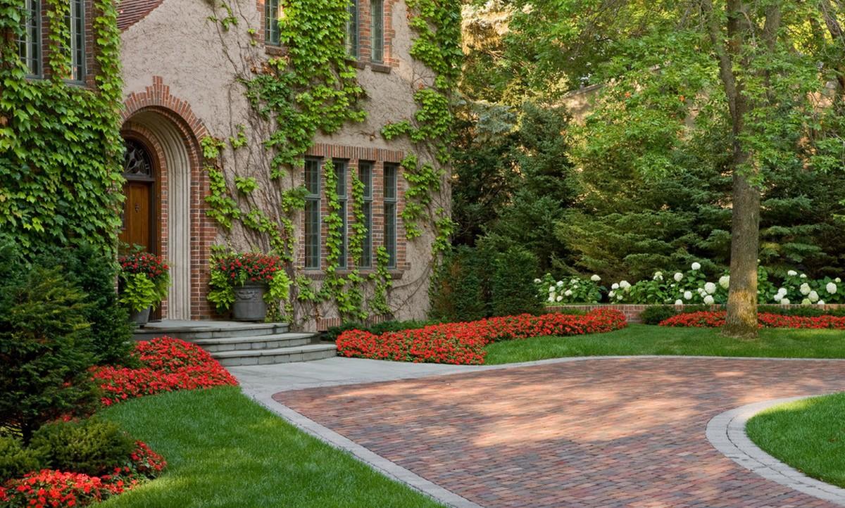 ландшафтный дизайн садового участка загородного дома фотогалерея