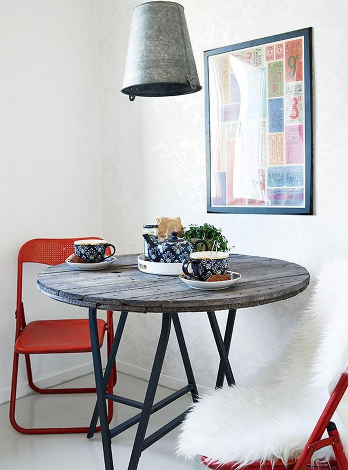 оформление дома в индустриальном стиле обеденный стол