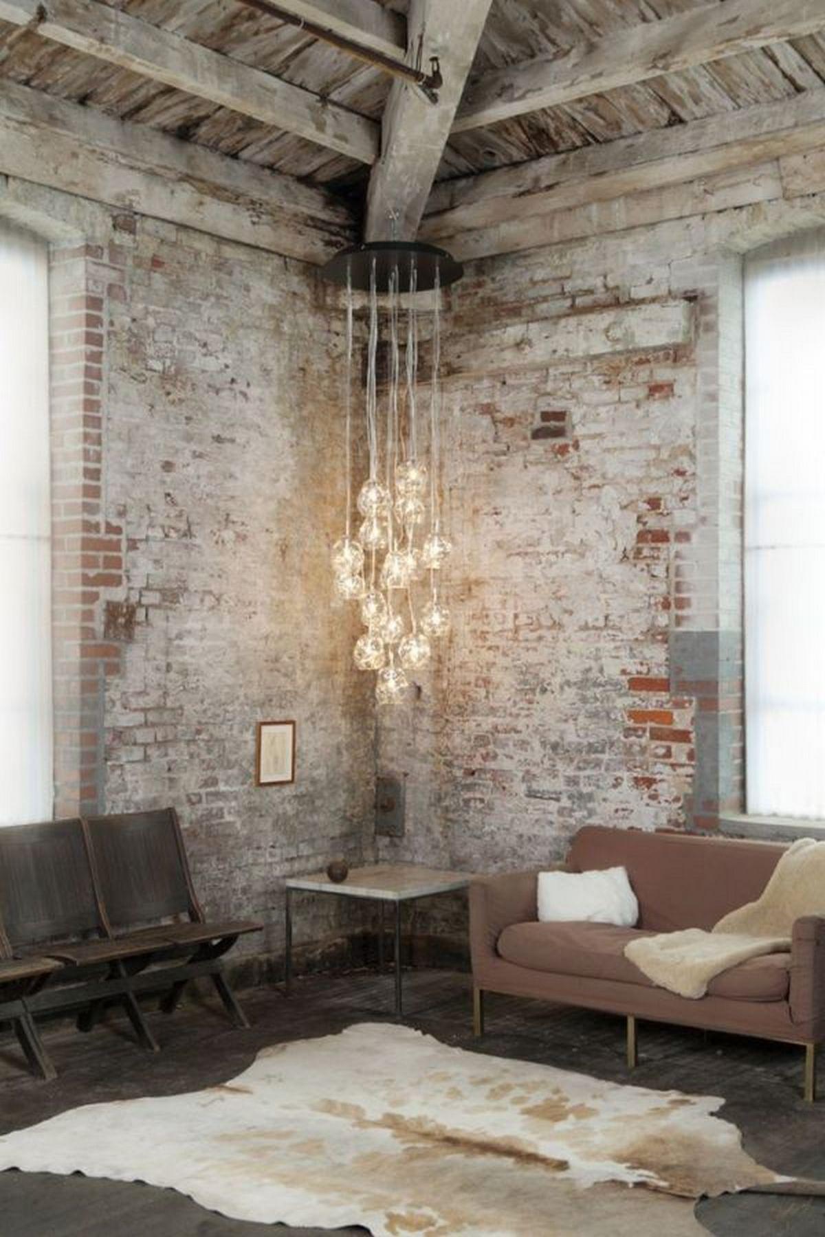 оформление дома в индустриальном стиле освещение