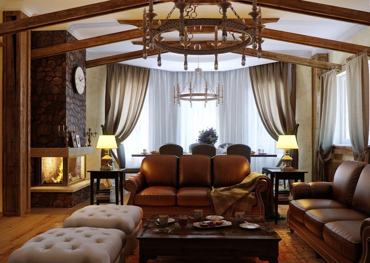 роскошный интерьер в стиле модерн в коричневых тонах