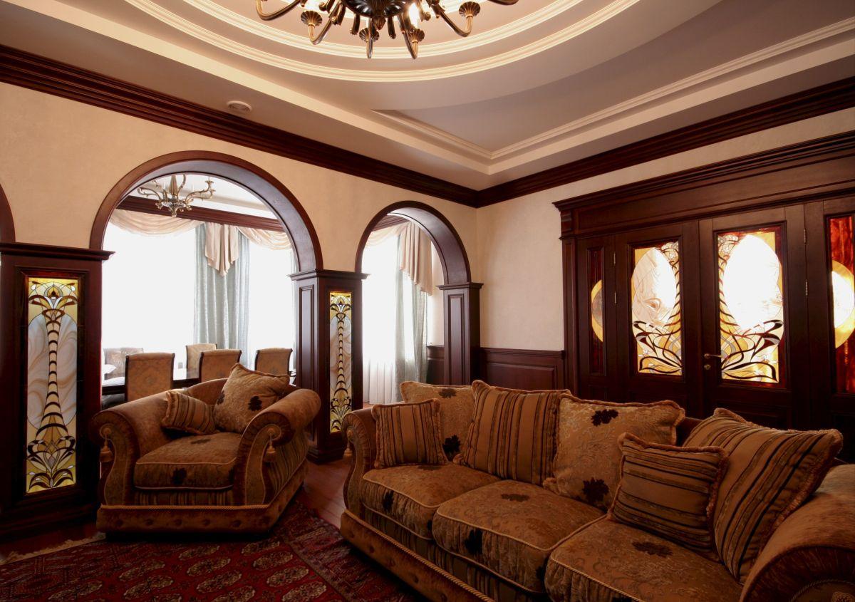 роскошный интерьер в стиле модерн