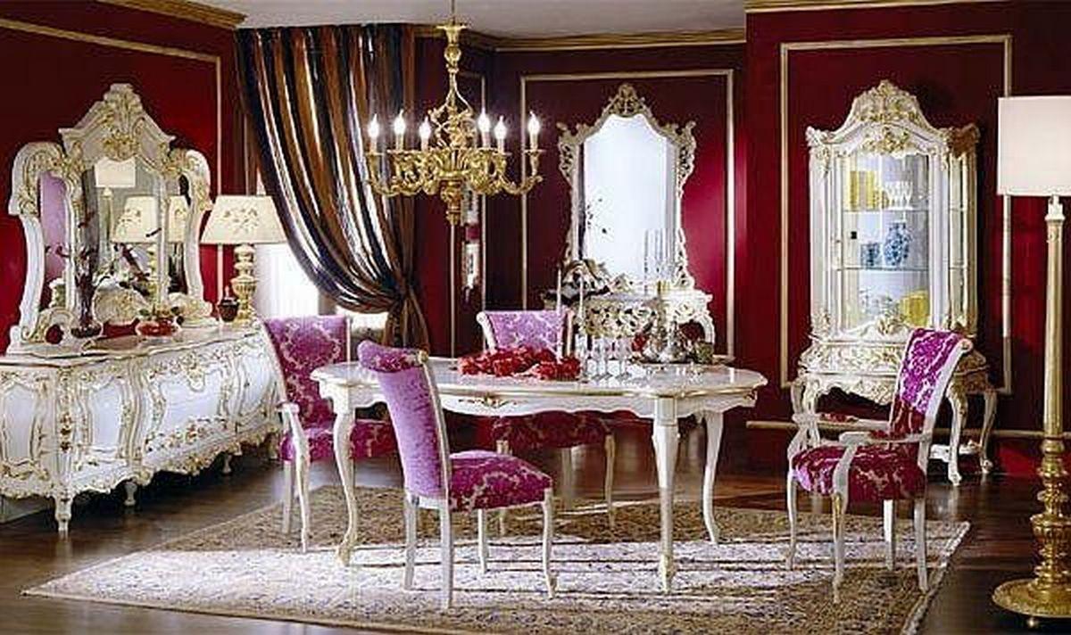 стиль барокко в интерьере квартиры столовая фото