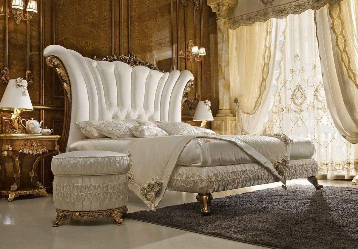 стиль барокко в современном интерьере шикарная кровать