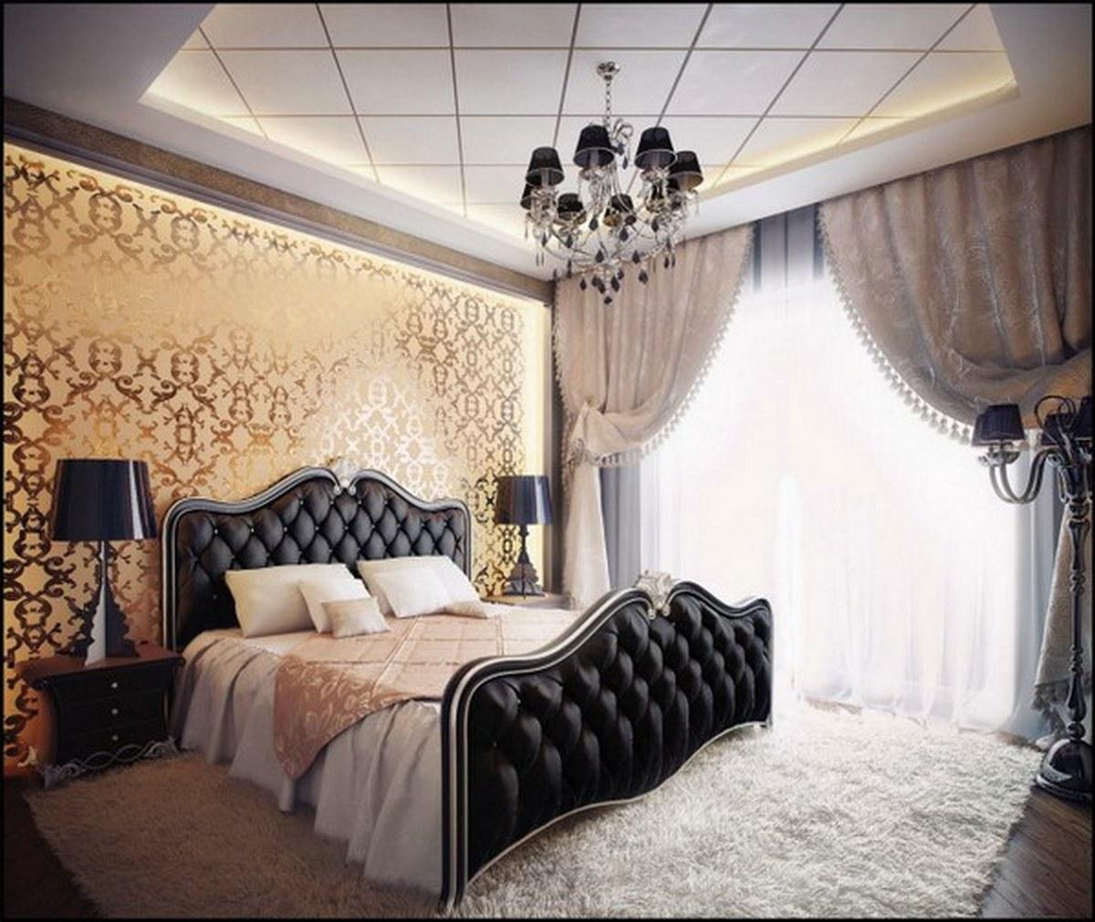 стиль барокко в современном интерьере спальни