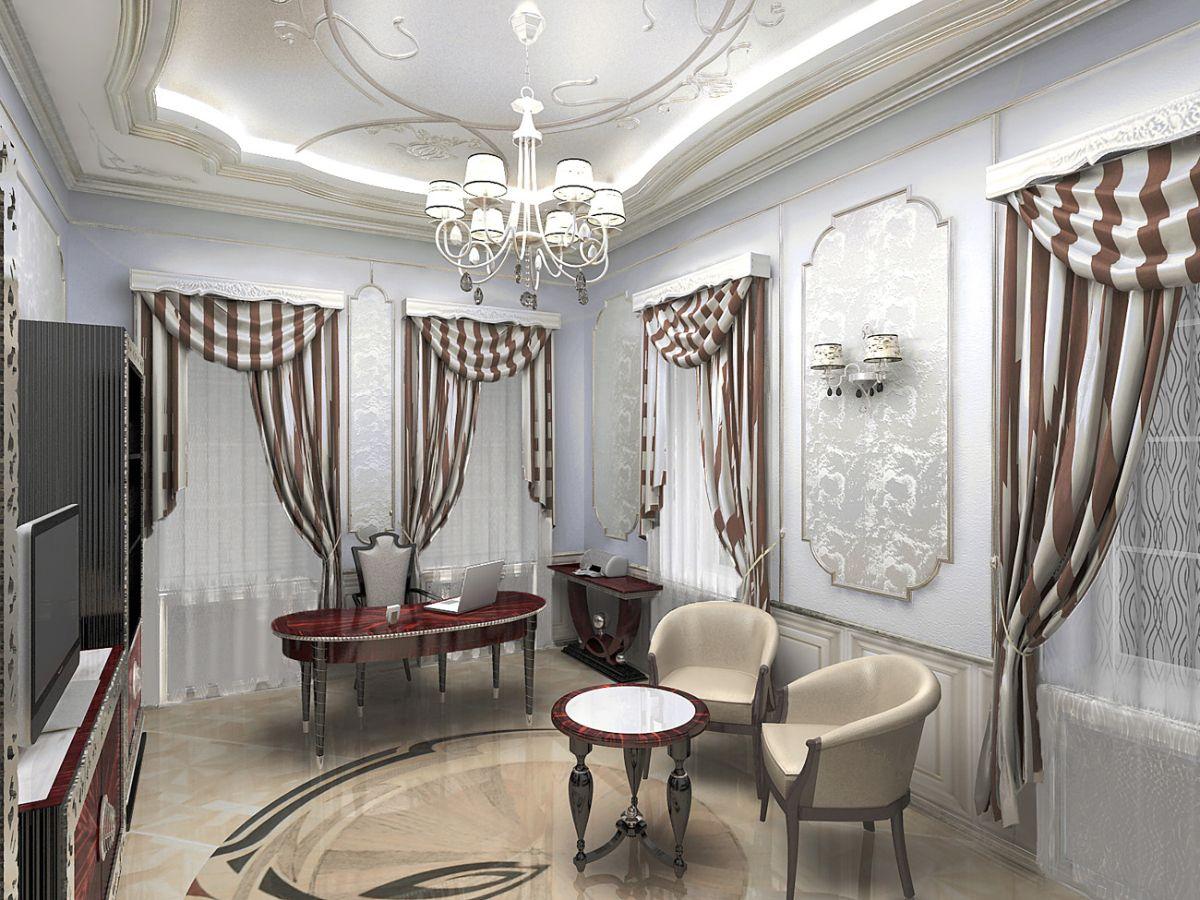 уточнённый интерьер гостиной в стиле модерн