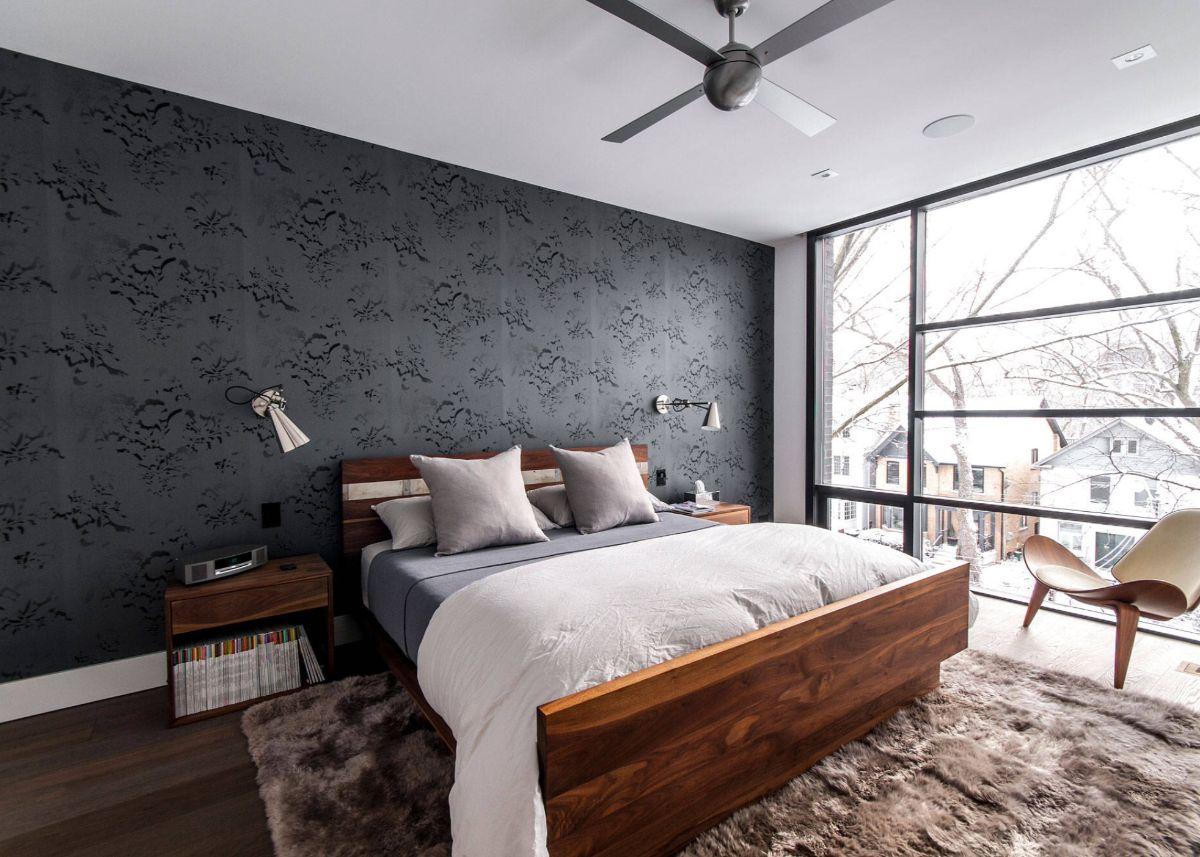 утончённый интерьер спальни в стиле модерн