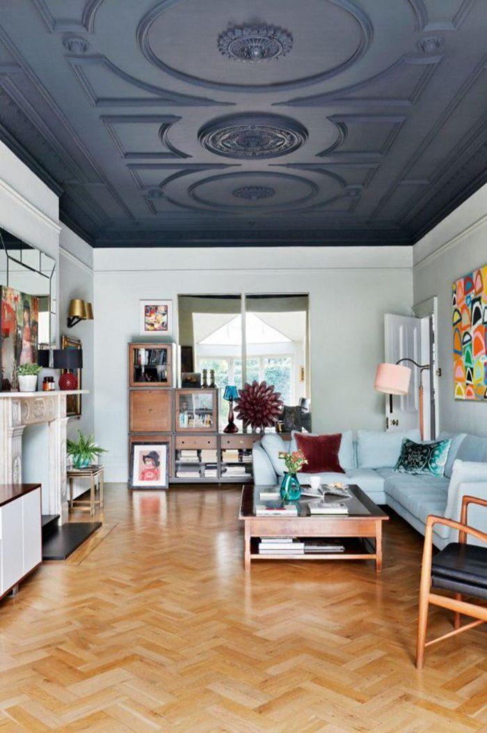 12. контрастный потолок в гостиной
