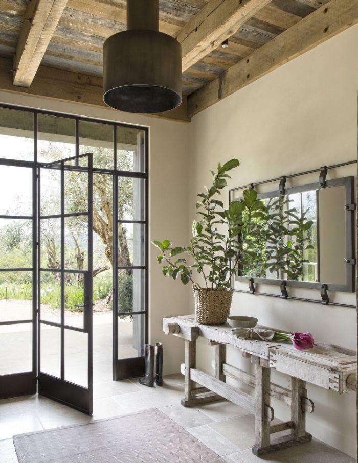 оформление потолка в прихожей в стиле прованс