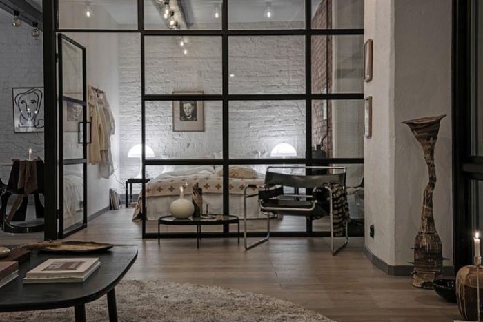 17. стеклянные перегородки в дизайне квартиры