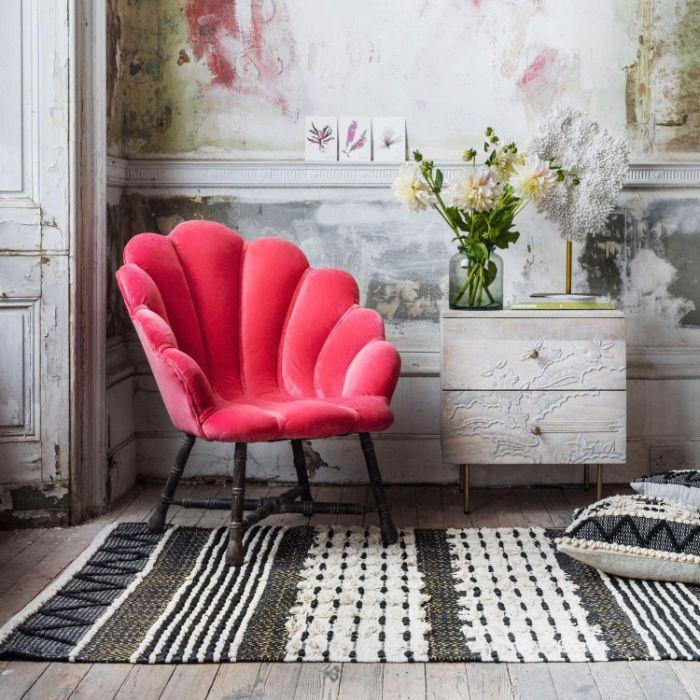 25. кресло-ракушка в дизайне комнаты