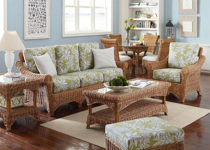 28. плетёная мебель в гостиной