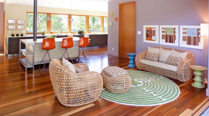 29. плетёная мебель в интерьере