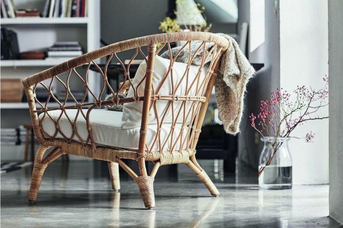 30. плетёное кресло в гостиной