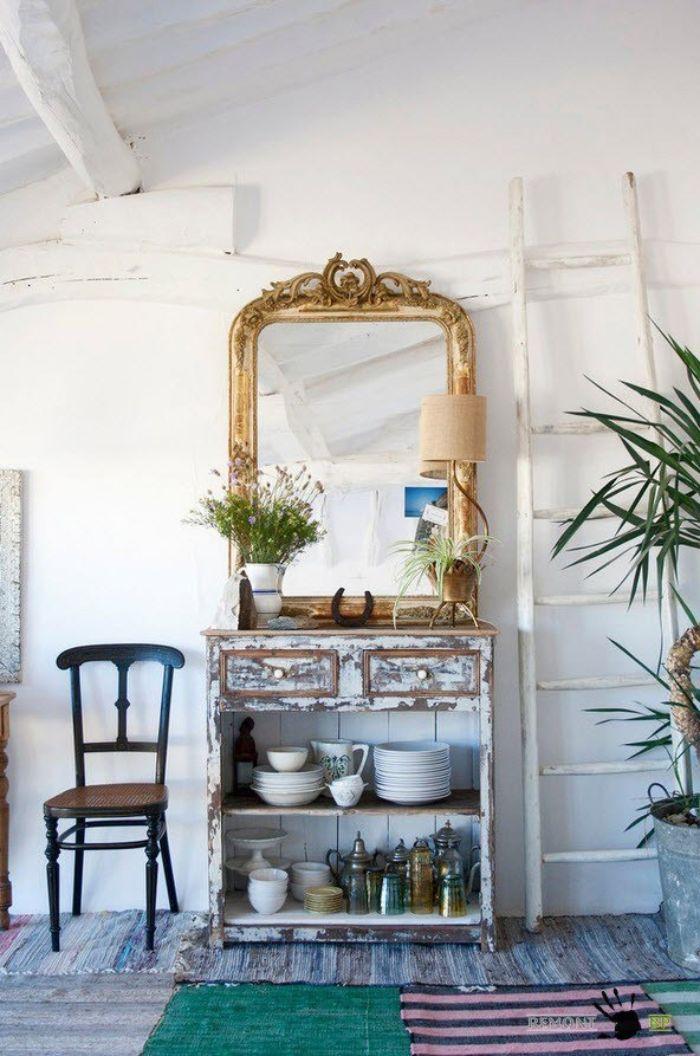 зеркало для прихожей в стиле прованс