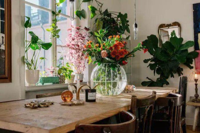 47. круглая ваза в гостиной