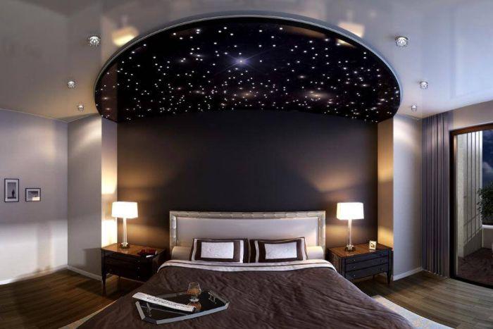 5. потолок звёздное небо в спальне