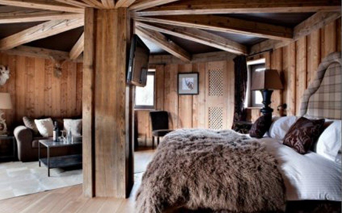 спальня в стиле шале фото пример