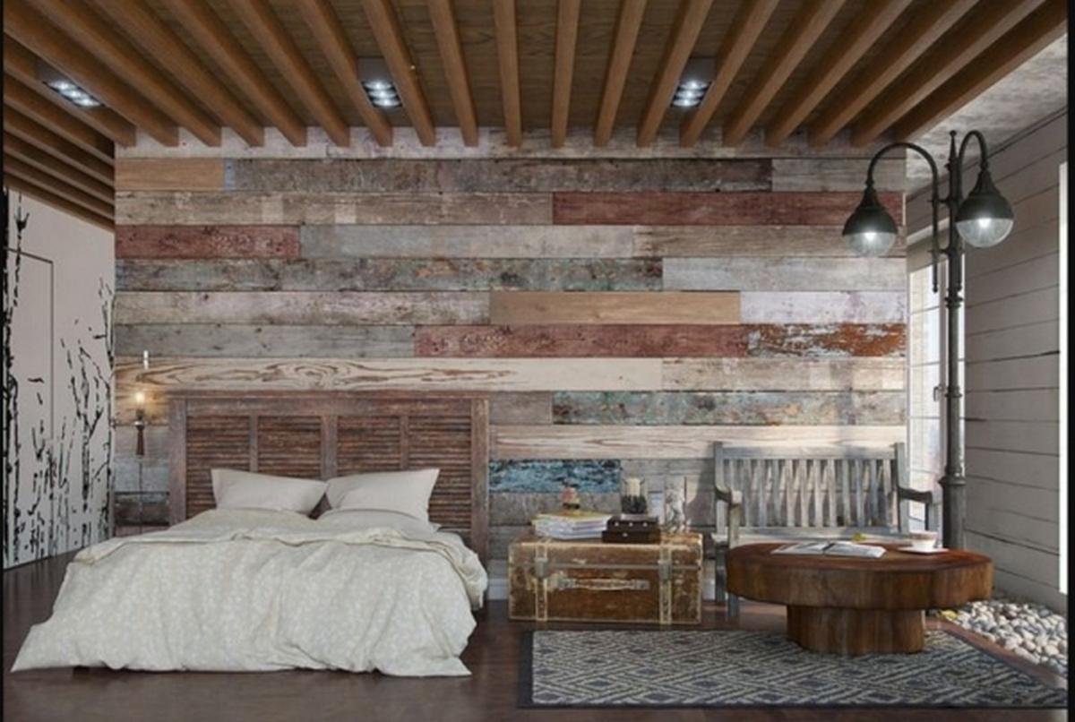 спальня в стиле шале на фото