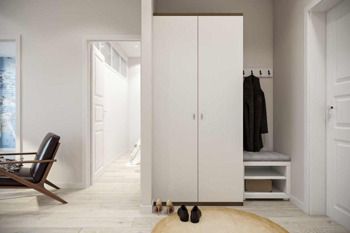 дизайн прихожей в скандинавском стиле стильная мебель